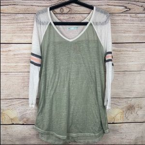 Maurices Lightweight Long Sleeve Baseball Tee